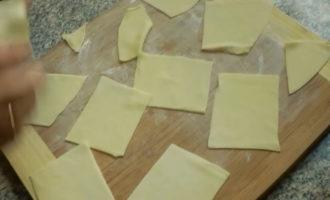 Вот что получилось - резанное тесто